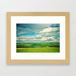 Seneca Lake Wine Road Framed Art Print