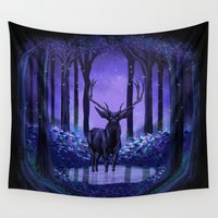 elf Wall Tapestries featuring Elf Forest by Sachpica