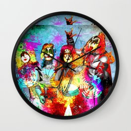 Kiss Grunge Wall Clock