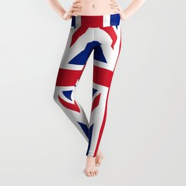 UK FLAG - The Union Jack Authentic color and 1:2 scale  Leggings