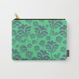 FANCY FLORA GREEN Carry-All Pouch