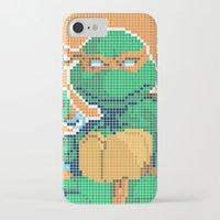 teenage mutant ninja turtles iPhone & iPod Cases featuring Teenage Mutant Ninja Turtles - Michelangelo by James Brunner