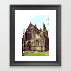 glasgow cathedral medieval cathedral Framed Art Print