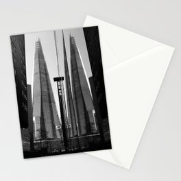 Shards - Black And White London Architecture Print Stationery Cards