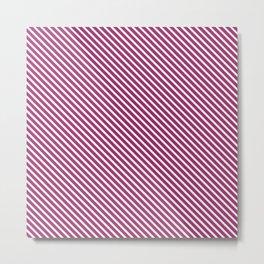 Festival Fuchsia Stripe Metal Print