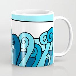 The Deep Blue Ocean Sea Waves Coffee Mug