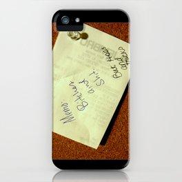 MEMO: iPhone Case