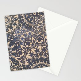 Black and brown mandala pattern Stationery Cards