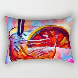 Cocktail 2 Watercolor Rectangular Pillow