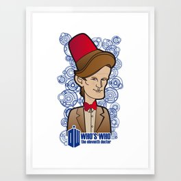 Doctor Who: Who's Who, Matt Smith - the eleventh doctor Framed Art Print