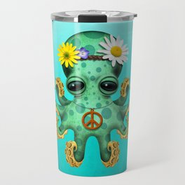 Cute Baby Octopus Hippie Travel Mug