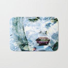 Scarlett Johansson Portrait - Water Reflections Series Bath Mat