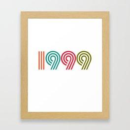 Vintage 1999 birthday birthday idea 20 years Framed Art Print