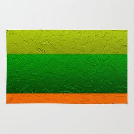 Orange Lime and Green Passion Rug