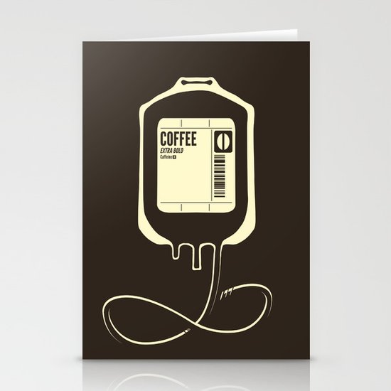 Coffee Transfusion Stationery Cards