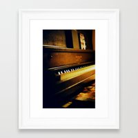 piano Framed Art Prints featuring piano by Liz Morrison Smith