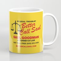 better call saul Mugs featuring Better Call Saul  by Laundry Factory