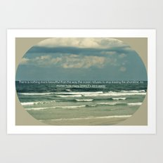 Sarah Kay - Ocean Quote Art Print