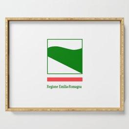 flag of Emilia romagna Serving Tray