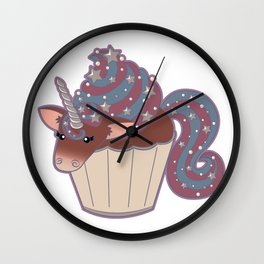 Cupcake Unicorn! Wall Clock
