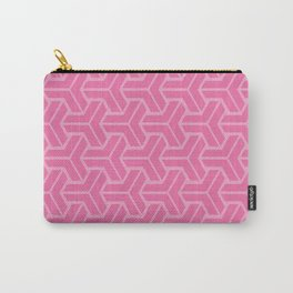 Abstract Geometric Pattern - Pink Carry-All Pouch