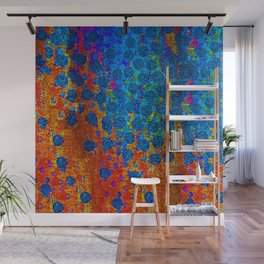 Burning Textile Drops Wall Mural