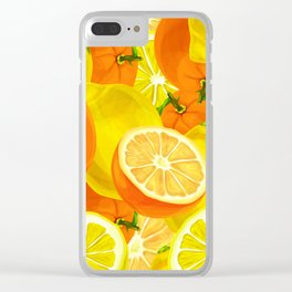 Tropical Fruits Pattern Clear iPhone Case