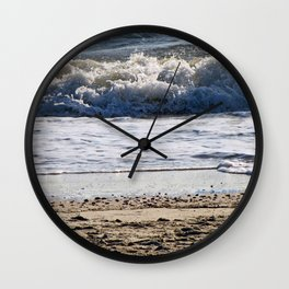 Cape May Beach New Jersey By Annie Zeno Wall Clock