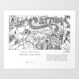 """""""Carmel"""" in words & image (S.Zalewski) Art Print"""