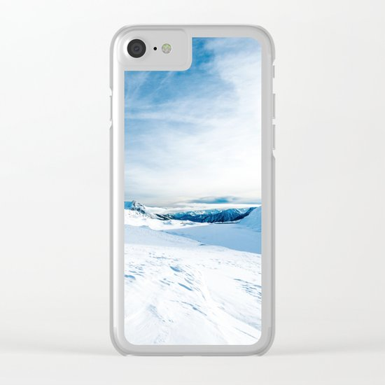 White Mountain 3 Clear iPhone Case