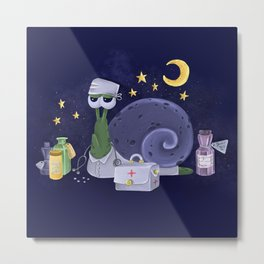 Snail the Doctor Metal Print