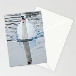 Reflective Swan Stationery Cards