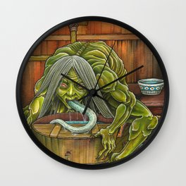 Aka-name - the filth licker Wall Clock
