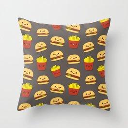 Fastfood pattern Throw Pillow