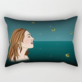 Swimming With Fireflies Rectangular Pillow