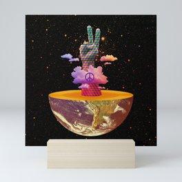 Peace Planet Mini Art Print