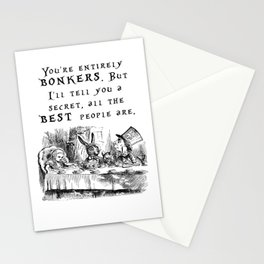 You're entirely bonkers Stationery Cards