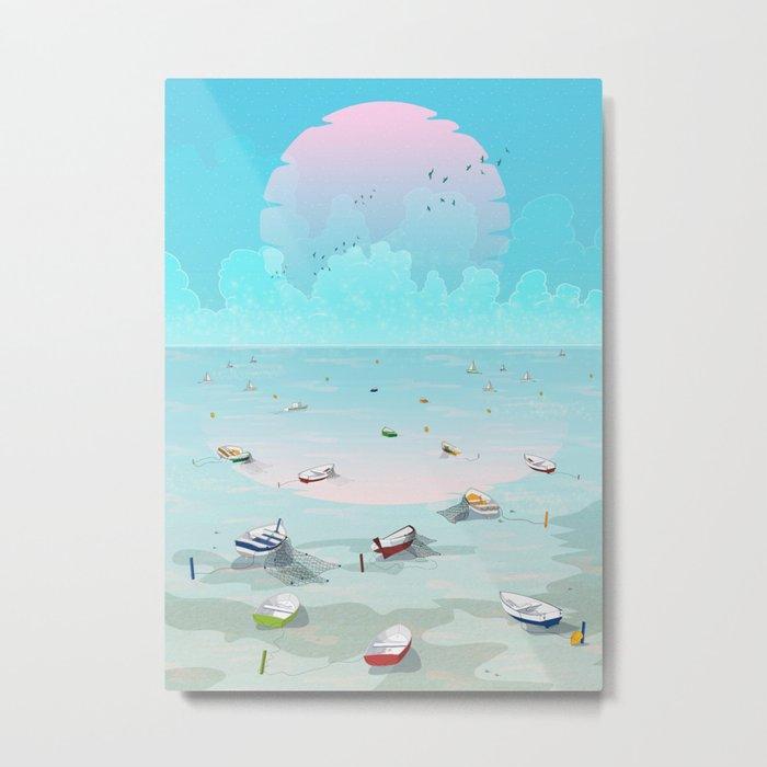Between two waters Metal Print