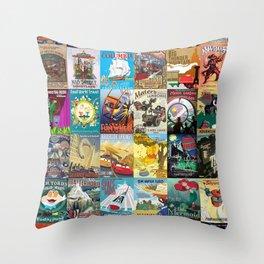Amusement Rides Throw Pillow