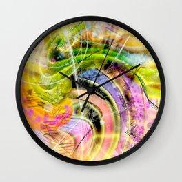QUARK EXPRESS ABSTRACT Wall Clock
