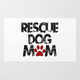 Rescue Dog Mom Rug