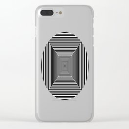 Down the Rabbit Hole Clear iPhone Case