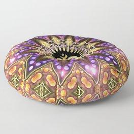 OM SHANTI Magic Lights Mandala Floor Pillow