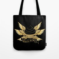 verse Tote Bags featuring Sweetshop Verse by Night Of The Living Fig