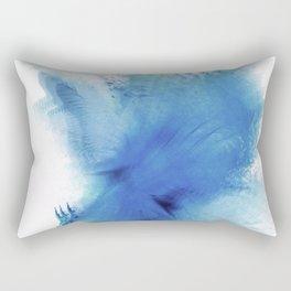 Royal Blue Blur Rectangular Pillow