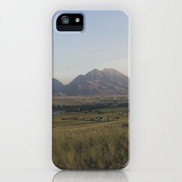 Scenic view Livingston Montana iPhone Case