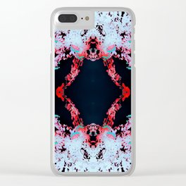 Neon Mirrored Trees 9 Clear iPhone Case