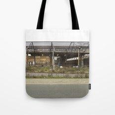 Grey Industrial Beauty Tote Bag