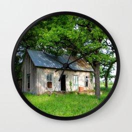 Abandon Home Poolville, Texas Wall Clock