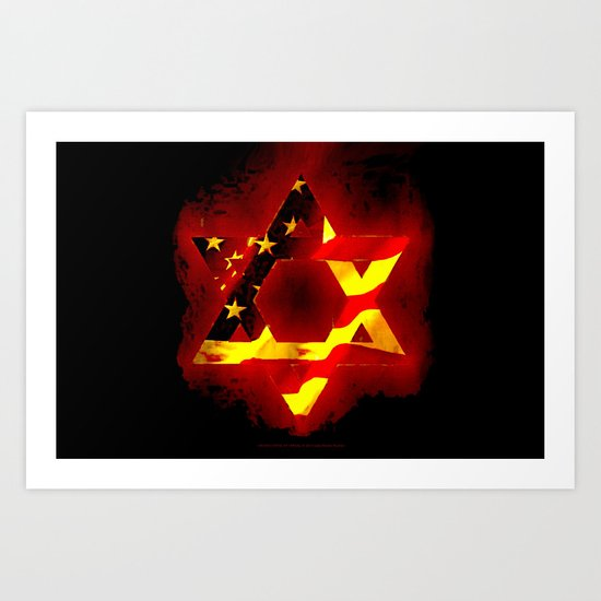 UNITED STATE OF ISREAL 011 Art Print